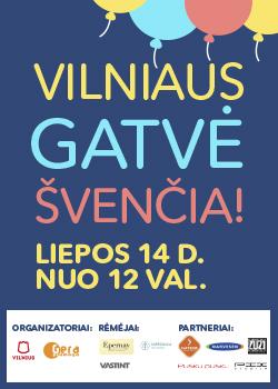Vilniaus gatvė švenčia